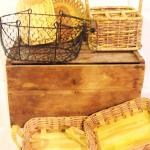rustic decor. rustic baskets. western party. western theme.