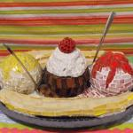 Ice cream party, banana spilt, ice cream theme, fundraiser props