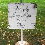 vintage wedding. rustic wedding. wedding sign.