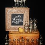 table numbers. vases. vintage centerpieces. vintage wedding. rustic wedding.