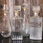 roaring 20's. great gatsby. glass decanters.