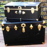 Treasure Chests. treasure chest. black trunks. vintage trunk