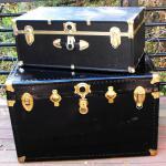Treasure Chests. treasure chest. black trunks. vintage trunk