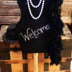 great gatsby. roaring 20's. vintage wedding. prom party. vintage decorations. dress form
