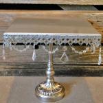 wedding. vintage wedding. crystal cupcake stand.