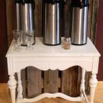 coffee bar. rustic coffee bar. rustic drink stand. dink stand.