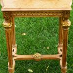 Ornate gold vintage table stand, great gatsby decor