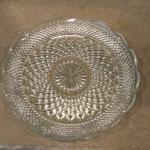 glass platter. cupcake stand. cake stand. crystal platter. wedding