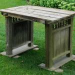 wedding. rustic wedding. vintage wedding. rustic table vintage table. ceremony table. rustic snack table. weathered table