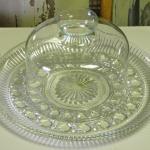 crystal plate. crystal dome. wedding. vintage wedding. rustic wedding. dessert bar.