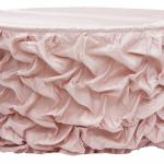 wedding. pink table skirt. blush pink. blush pink linen. blush wedding.