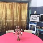 grad party. wedding. wedding rentals. pipe and drape. pipe and drape rental. gold backdrop. gold curtains.