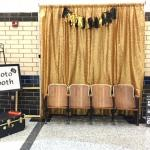 pipe and drape. backdrop. gold. gold backdrop. gold curtain. gold pipe and drape. wedding. wedding rentals. pipe and drape rentals. Hollywood party.