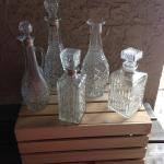 decanters, vintage, glass, 20s