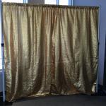 gold, backdrop, wedding, graduation, photo booth