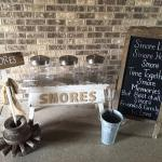 wedding. vintage wedding. rustic wedding. barn wedding. event. party. camp fire. s'mores. s'mores bar. wedding rentals. vintage rentals. rentals.