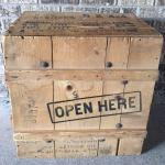 rustic crate. wooden crate. wedding. vintage.