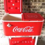 50's theme. 50's party. 50's decor. 50's. Coca-Cola. Cooler. retro cooler. wedding. Refreshment cooler