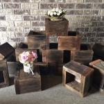 wooden boxes. wooden boxes centerpieces. woooden box centerpieces. wedding. rustic wedding. rustic glam wedding. wedding centerpieces. vintage wedding. barn wedding. rustic centerpieces. floral centerpieces.