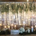 wedding. backdrop. wedding backdrop. rustic wedding. wedding lighting. light up curtain.