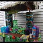 Tiki Hut. luau. luau party. luau theme. beach party. hawaiian party.