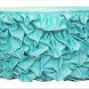 table skirt. blue table skirt. aqua table skirt. wedding.