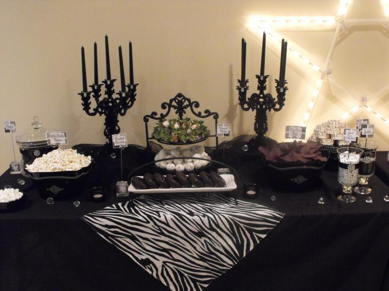 Black and White Sweet 16 Party Ideas