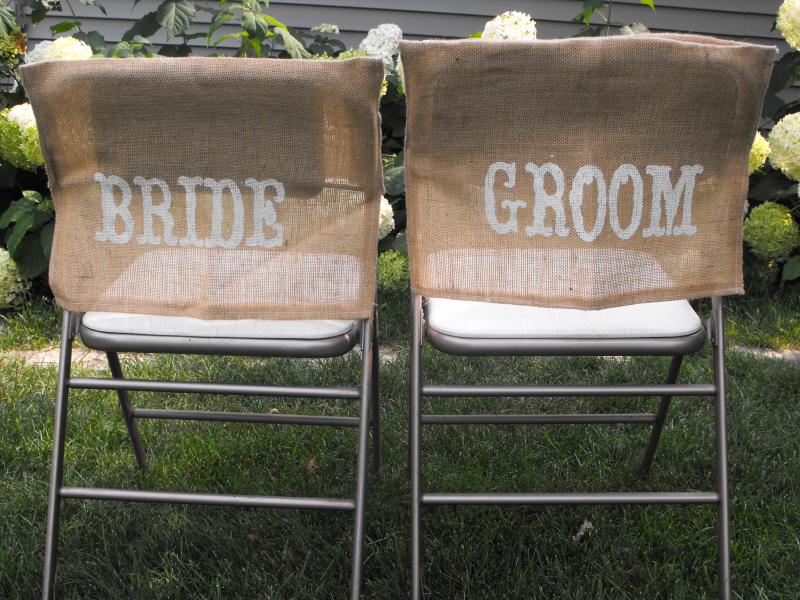 Bride Amp Groom Burlap Chair Covers All The Rage Decor