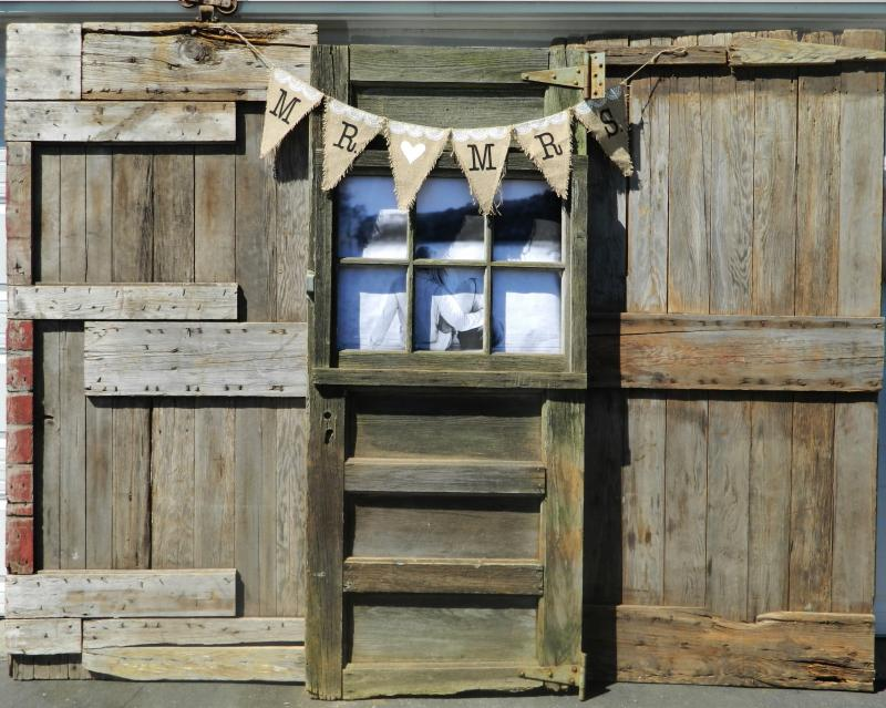 Rustic Backdrop Wedding Vintage Doors Head