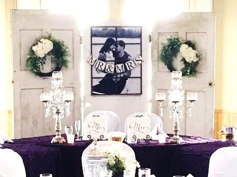 Backdrop Wedding Head Table Back Drop Photo Booth Vintage Doors