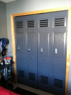 Painting Closet Doors To Look Like Lockers